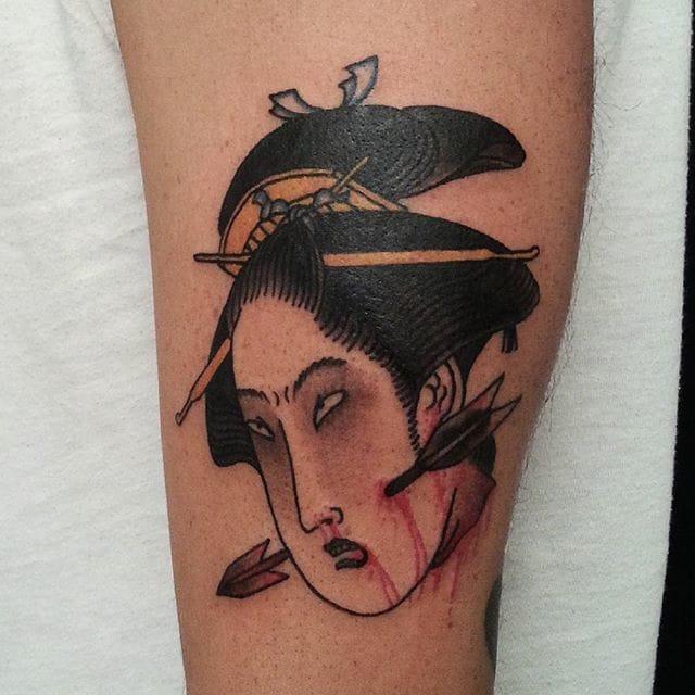 Namakubi Tattoo by Pauline Tabur