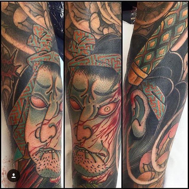 Namakubi Tattoo by Ryan Ussher