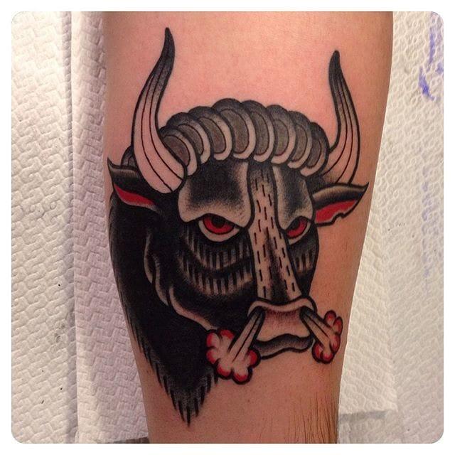 Tattoo by Marco Mantovani #bull #bulltattoo