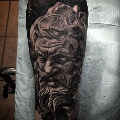 Dark Zeus Tattoo by Jason Hawes