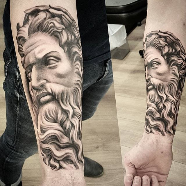 Zeus Tattoo by Kyle the Kid