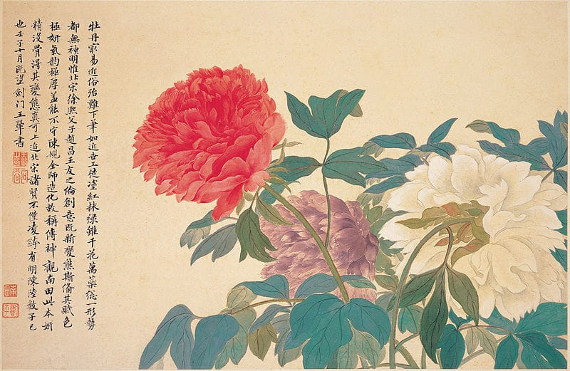 Portrait of a peony by Chinese artist Yun Shouping, 17th century. Photo from Wikipedia.