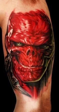 12. The Red Skull ( HAIL HYDRA!) - Done by Alex Gotza.