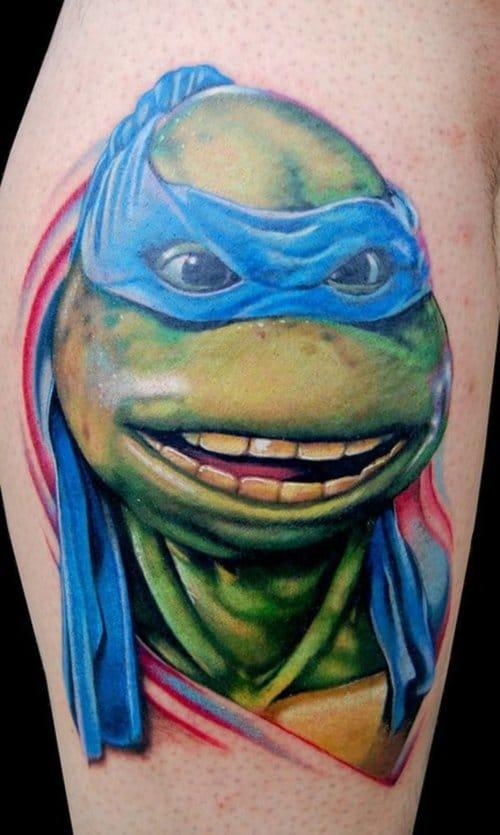 18. Leonardo (Teenage mutant Ninja Turtles) - Tattoo by Tony Sklepic.