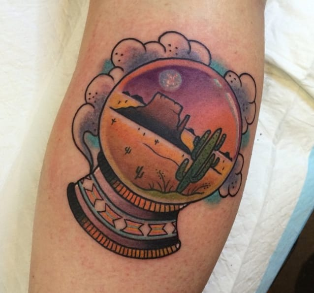 Snow Globe Tattoos: Beaches And Deserts