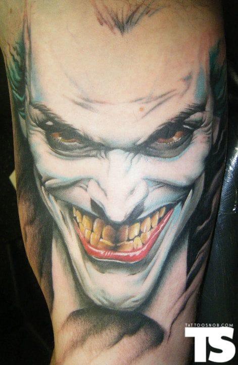 19. The Joker - Tattoo by Paul Marino Raw Power Tattoo.