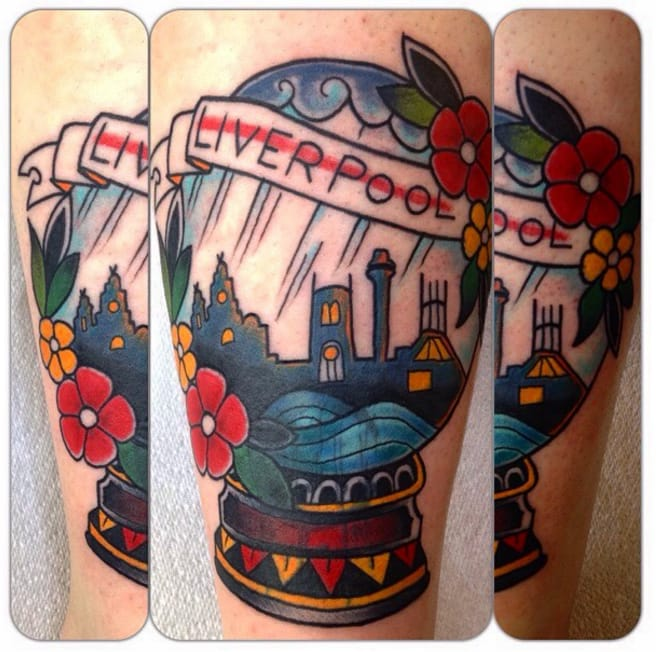 Snow Globe Tattoos: Buildings And Cities