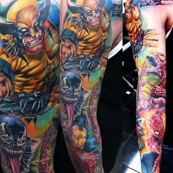 A little of Everyone lol ( Wolverine, Ironman, Spiderman, carnage, Venom) - Artist unknown.