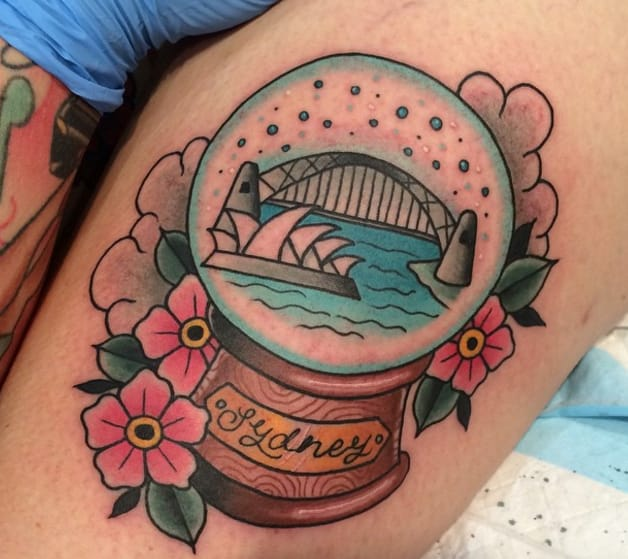 Sydney tattoo! Photo from Instagram @melaniemilnetattoos.