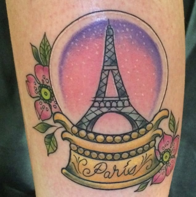 Paris tattoo by Instagram @pinkcherry_tattoo.
