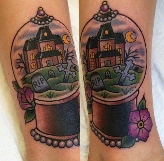 Scary house by Instagram @melaniemilnetattoos