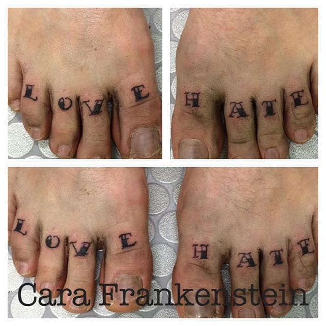 Toe Tattoo by Cara Frankenstein
