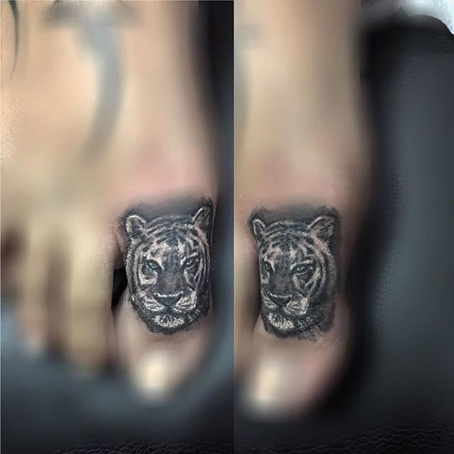 Tiger Toe Tattoo by Javier Eastman