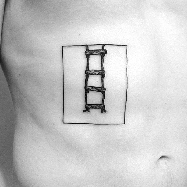 Rope Ladder Tattoo by Yi Stropky