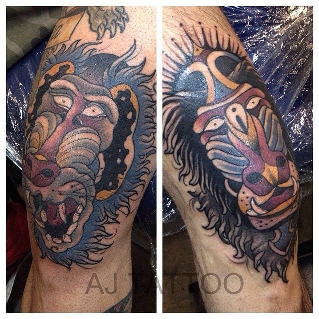 Awesome Knee Tattoos by Aaron Ashworth