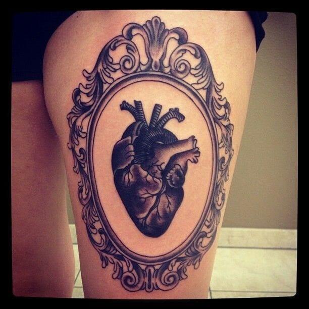 Beautiful black heart framed.