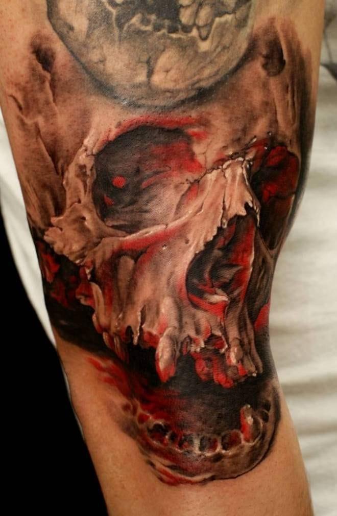 10 Mind-Blowing Skull Tattoos By Dmitriy Samohin