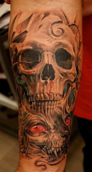 Skull with cat by Dmitriy Samohin