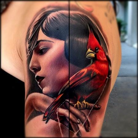 10 Vibrant Red Cardinal Tattoos