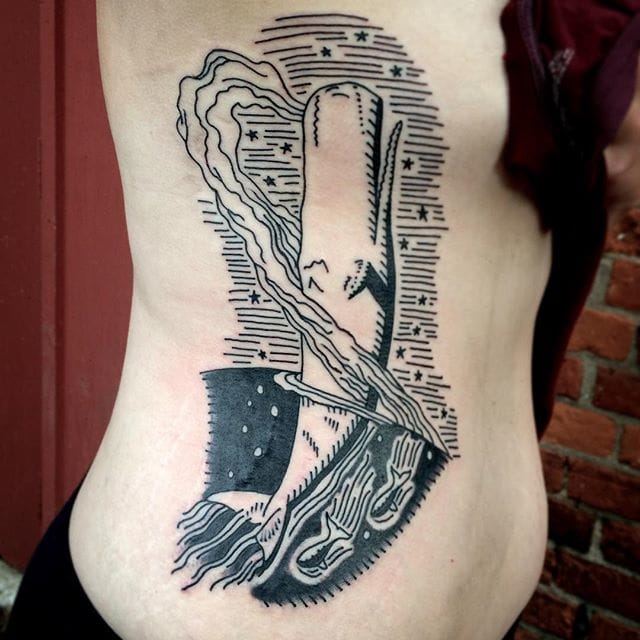 Moby Dick Tattoo by Alexis Colombo