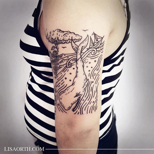 Moby Dick Tattoo by Lisa Orth