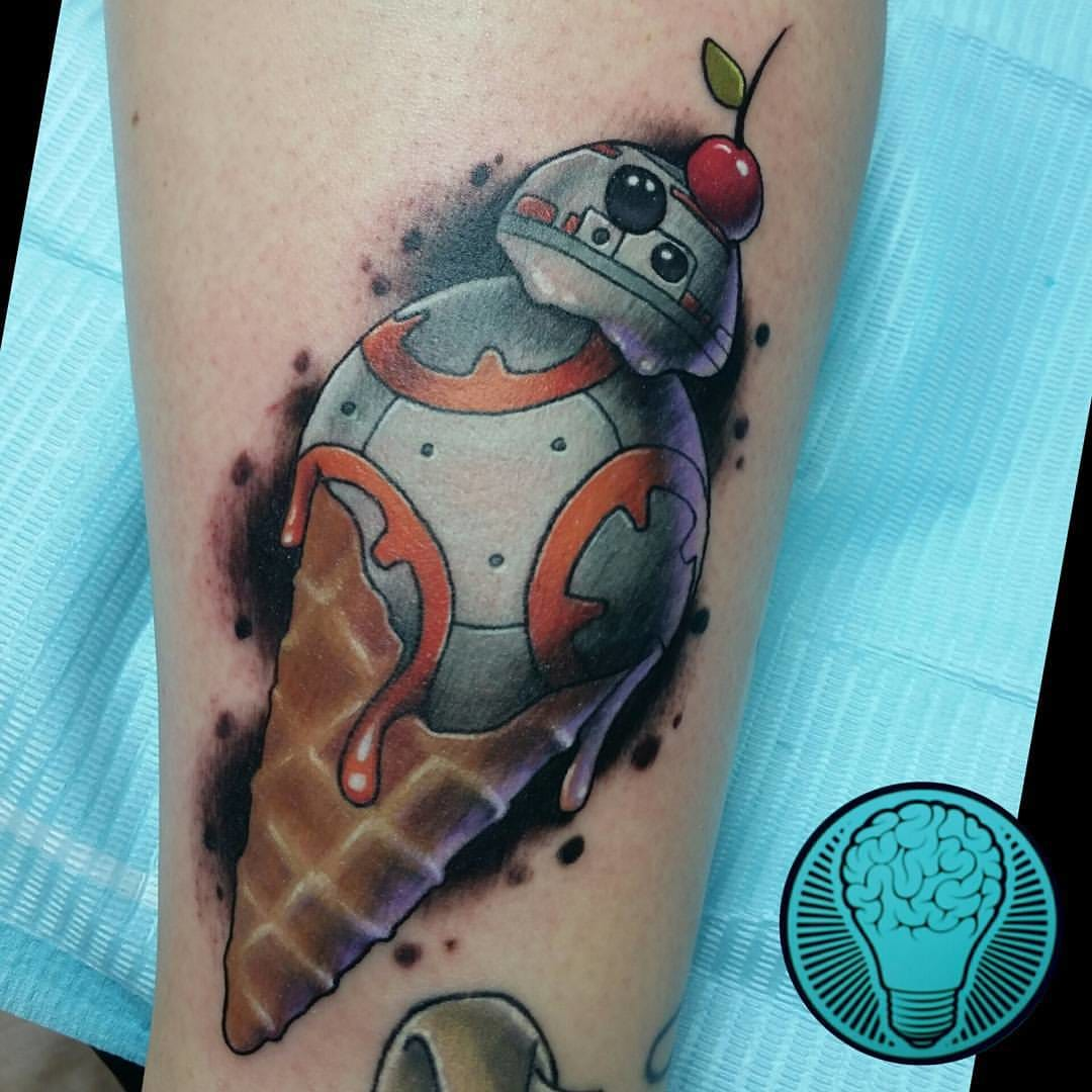 Cool BB-8 tattoo idea