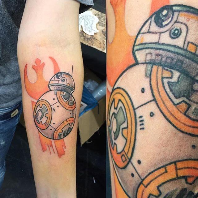BB-8 tattoo by @christinestattoo_art