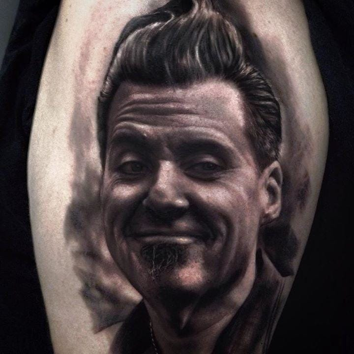 Joe Capobianco portrait tattoo