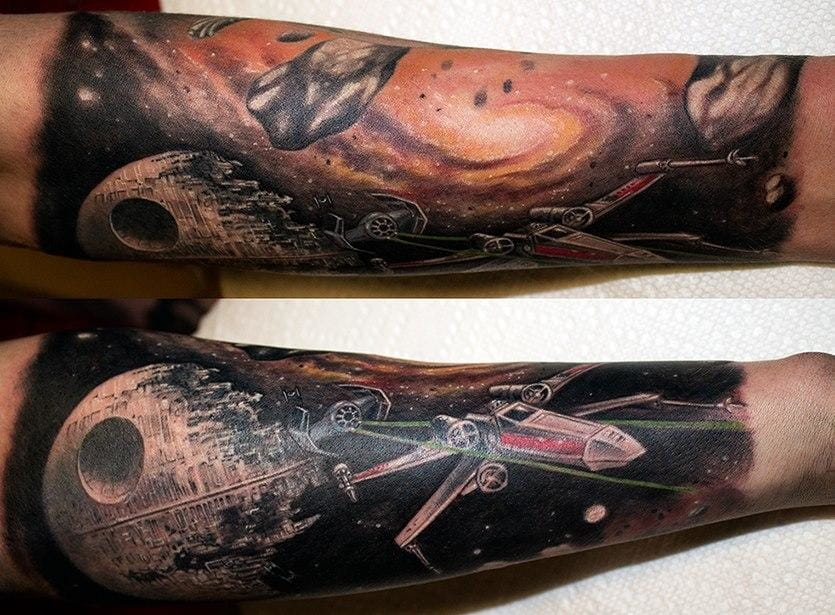 10 Awesome X-Wing Fighter Tattoos