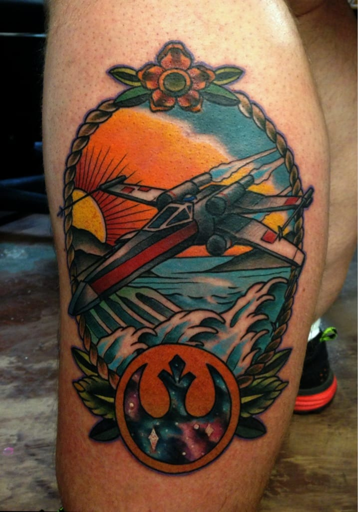 Clean work. Tattoo by Das Frank.