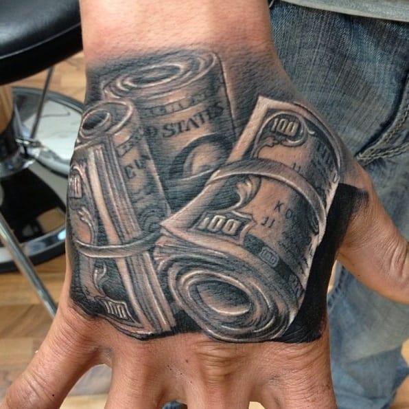 10 Cold Cash Money Tattoos For Hustlas