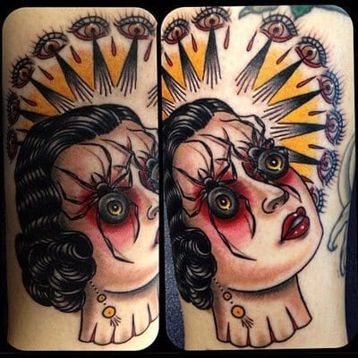 Freakin' awesome! Tattoo artist unknown. Please send us their names if you do!