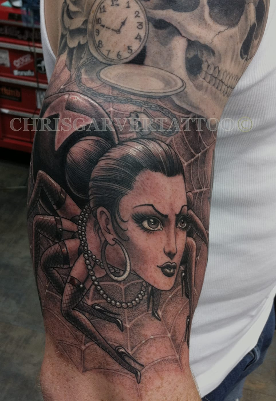 Awesome tattoo as always by Chris Garver.