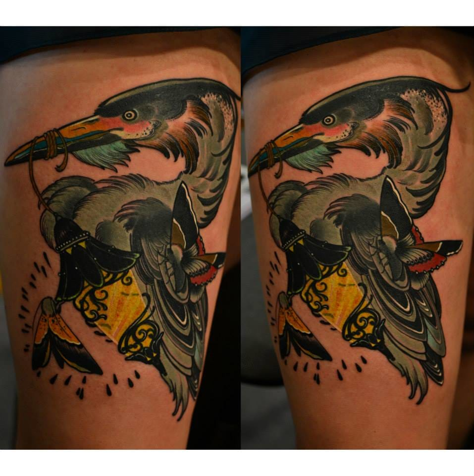 Cool neo traditional tattoo by Lipa Andrzej.