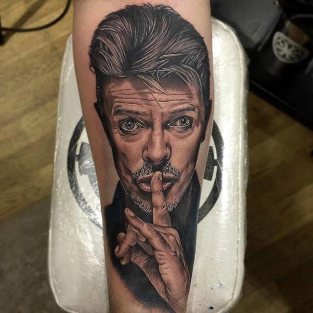 10 Glam Rock David Bowie Tattoos