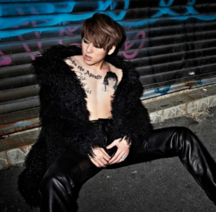 Tattooed Zico, South Korean rapper,  source: soompi.com