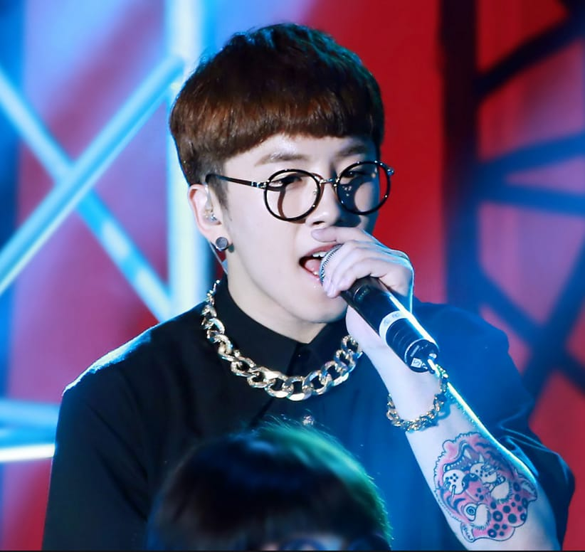 Tattooed Taeil, South Korean boy group member, source: Tumblr