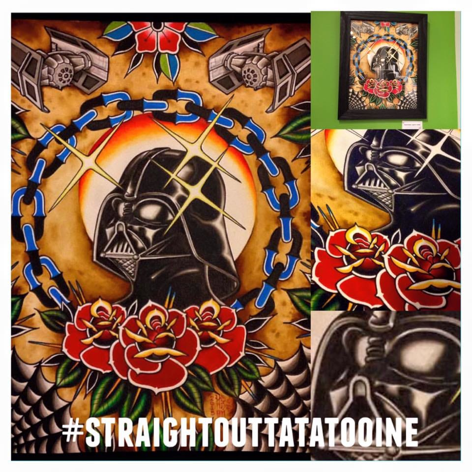 Traditional Darth Vader by @hendonart