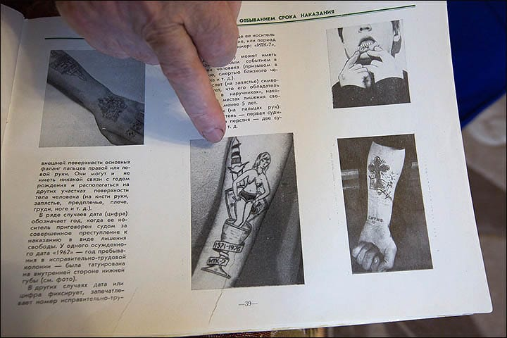 Bronnikov Collected Over 20,000 Images Of Criminal Tattoos