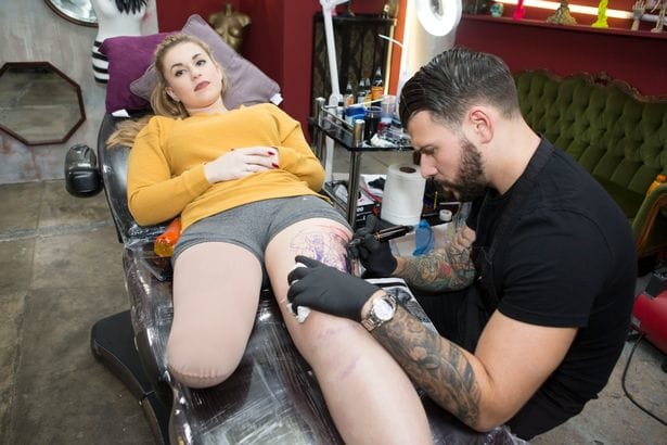 Rollercoaster Crash Amputee Finds Strength In New Tattoo
