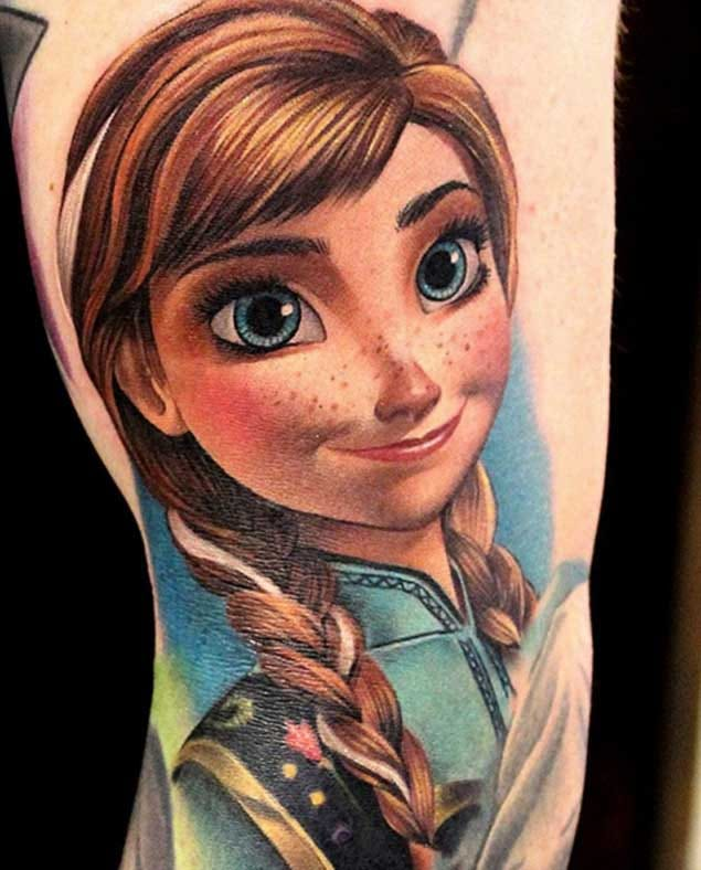This is Elsa's younger sister, Princess Anna, doll-eyed, optimistic and fearless.