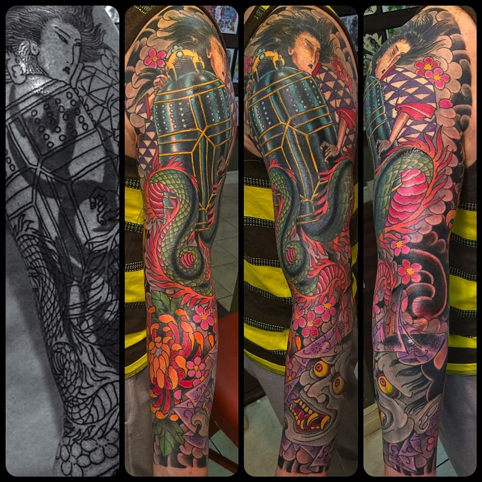 Killer cover-up by Jason Loui. Way waaay better than the old tattoo!