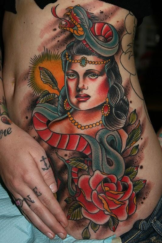 There are also western styles for the snake lady, this one beautifully executed by Stefan Johnsson
