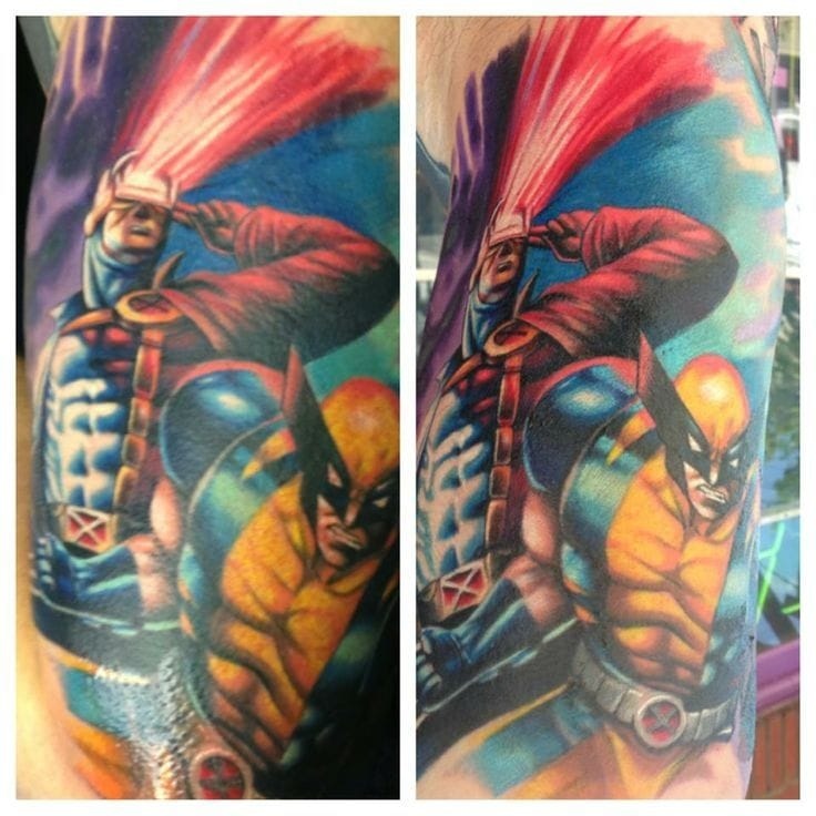 www.pinterest.com Search by image Cyclops and Wolverine tattoo · Found on best-ink.oxygen.com