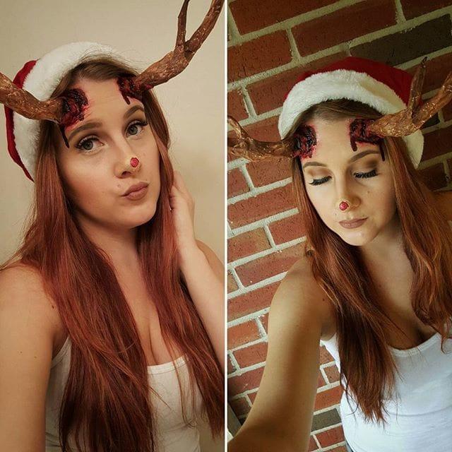Self-Taught Makeup Artist's Creepy Twist On 25 Days Of Christmas