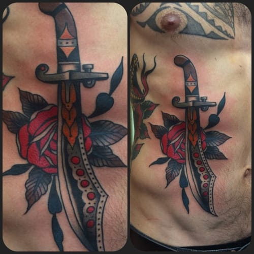 Scimitar Tattoo by Ryan Cooper Thompson