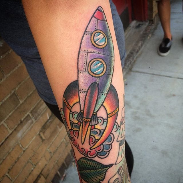 Rocket Tattoo by Chad Leever