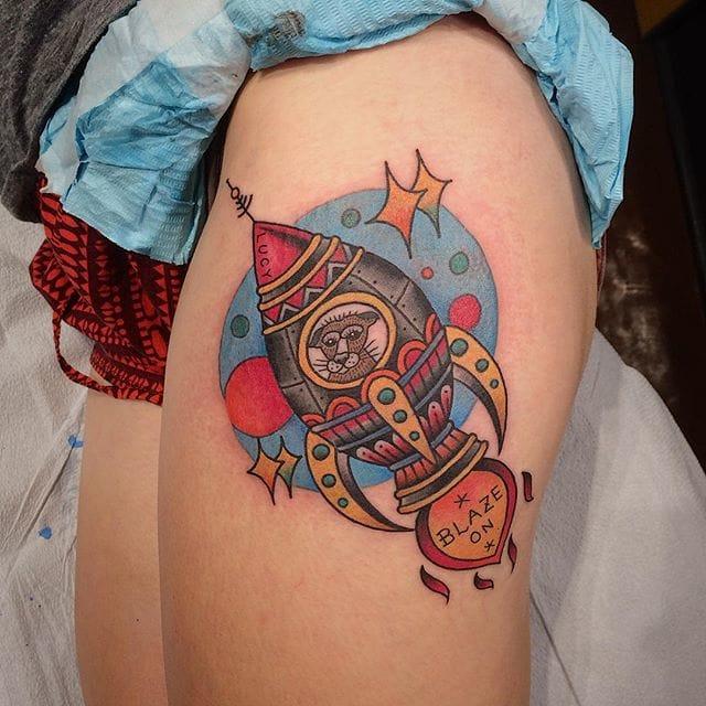 Rocket Tattoo by JK Tattoo