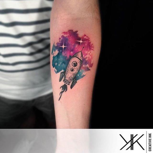Rocket Tattoo by Koray Karagözler