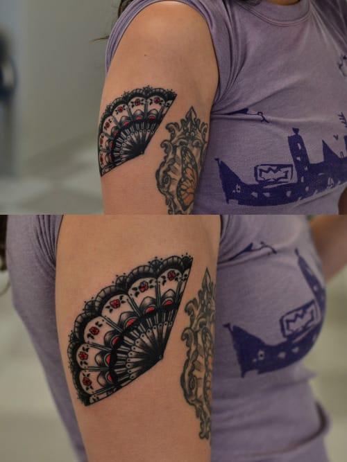 Fan Tattoo by Alejandro G. Laureano